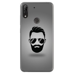 Funda Gel Tpu para Wiko View2 Plus diseño Barba Dibujos