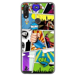Funda Gel Tpu para Wiko View2 Plus diseño Comic Dibujos
