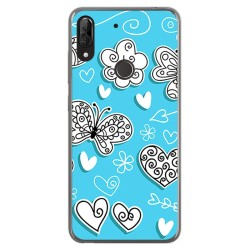 Funda Gel Tpu para Wiko View2 Plus diseño Mariposas Dibujos