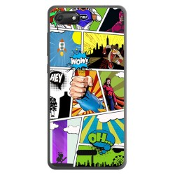 Funda Gel Tpu para Wiko Harry2 diseño Comic Dibujos