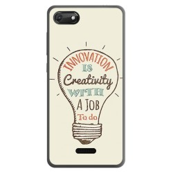 Funda Gel Tpu para Wiko Harry2 diseño Creativity Dibujos