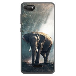 Funda Gel Tpu para Wiko Harry2 diseño Elefante Dibujos
