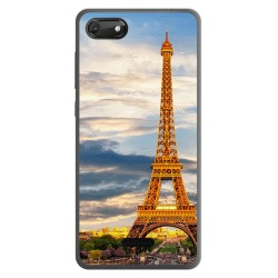 Funda Gel Tpu para Wiko Harry2 diseño Paris Dibujos