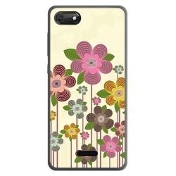 Funda Gel Tpu para Wiko Harry2 diseño Primavera En Flor Dibujos