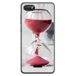 Funda Gel Tpu para Wiko Harry2 diseño Reloj Dibujos