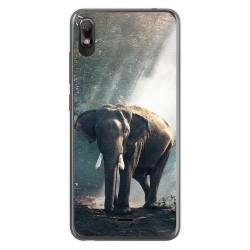 Funda Gel Tpu para Wiko View2 Go diseño Elefante Dibujos