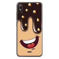 Funda Gel Tpu para Wiko View2 Go diseño Helado Chocolate Dibujos
