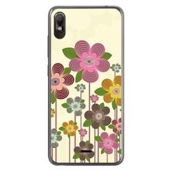 Funda Gel Tpu para Wiko View2 Go diseño Primavera En Flor Dibujos