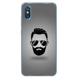 Funda Gel Tpu para Xiaomi Mi 8 Pro diseño Barba Dibujos