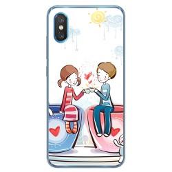 Funda Gel Tpu para Xiaomi Mi 8 Pro diseño Café Dibujos