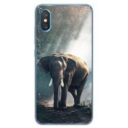Funda Gel Tpu para Xiaomi Mi 8 Pro diseño Elefante Dibujos