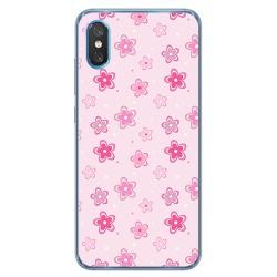 Funda Gel Tpu para Xiaomi Mi 8 Pro diseño Flores Dibujos