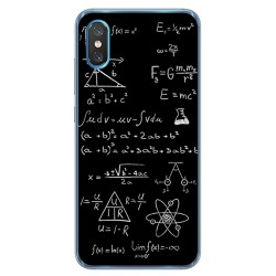 Funda Gel Tpu para Xiaomi Mi 8 Pro diseño Formulas Dibujos