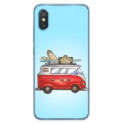 Funda Gel Tpu para Xiaomi Mi 8 Pro diseño Furgoneta Dibujos