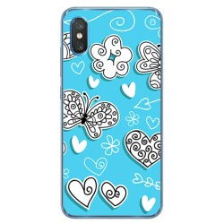 Funda Gel Tpu para Xiaomi Mi 8 Pro diseño Mariposas Dibujos