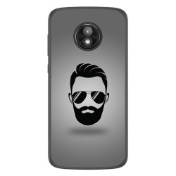 Funda Gel Tpu para Motorola Moto E5 Play diseño Barba Dibujos
