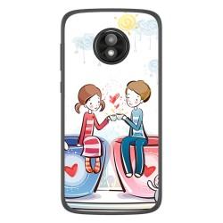 Funda Gel Tpu para Motorola Moto E5 Play diseño Café Dibujos