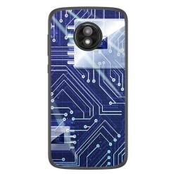 Funda Gel Tpu para Motorola Moto E5 Play diseño Circuito Dibujos