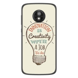 Funda Gel Tpu para Motorola Moto E5 Play diseño Creativity Dibujos