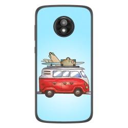 Funda Gel Tpu para Motorola Moto E5 Play diseño Furgoneta Dibujos