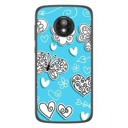 Funda Gel Tpu para Motorola Moto E5 Play diseño Mariposas Dibujos