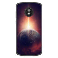 Funda Gel Tpu para Motorola Moto E5 Play diseño Tierra Dibujos