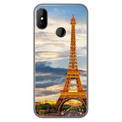 Funda Gel Tpu para DOOGEE X70 diseño Paris Dibujos