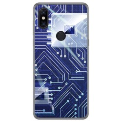 Funda Gel Tpu para Xiaomi Mi Mix 3 diseño Circuito Dibujos