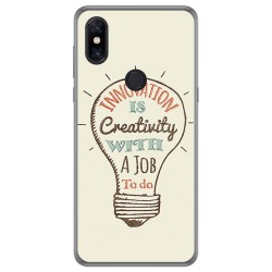 Funda Gel Tpu para Xiaomi Mi Mix 3 diseño Creativity Dibujos