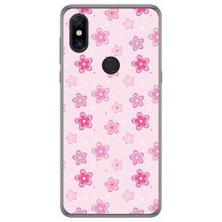 Funda Gel Tpu para Xiaomi Mi Mix 3 diseño Flores Dibujos