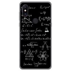 Funda Gel Tpu para Xiaomi Mi Mix 3 diseño Formulas Dibujos