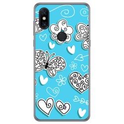 Funda Gel Tpu para Xiaomi Mi Mix 3 diseño Mariposas Dibujos