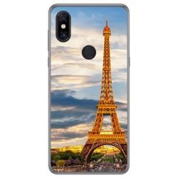 Funda Gel Tpu para Xiaomi Mi Mix 3 diseño Paris Dibujos