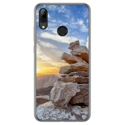 Funda Gel Tpu para Huawei P Smart 2019 / Honor 10 Lite diseño Sunset Dibujos