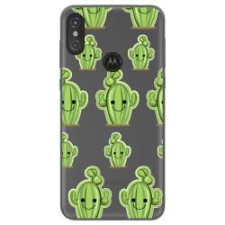 Funda Gel Transparente para Motorola One diseño Cactus Dibujos