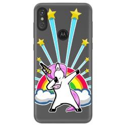 Funda Gel Transparente para Motorola One diseño Unicornio Dibujos