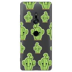Funda Gel Transparente para Sony Xperia XZ3 diseño Cactus Dibujos
