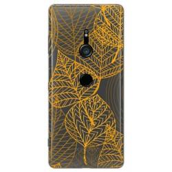 Funda Gel Transparente para Sony Xperia XZ3 diseño Hojas Dibujos