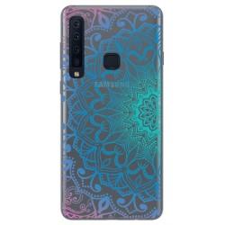 Funda Gel Transparente para Samsung Galaxy A9 (2018) diseño Mandala Dibujos