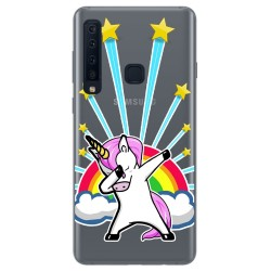 Funda Gel Transparente para Samsung Galaxy A9 (2018) diseño Unicornio Dibujos