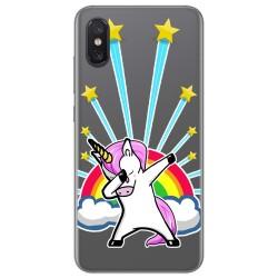 Funda Gel Transparente para Xiaomi Mi 8 Pro diseño Unicornio Dibujos
