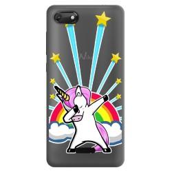 Funda Gel Transparente para Wiko Harry2 diseño Unicornio Dibujos
