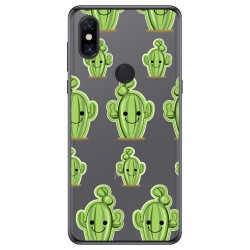 Funda Gel Transparente para Xiaomi Mi Mix 3 diseño Cactus Dibujos