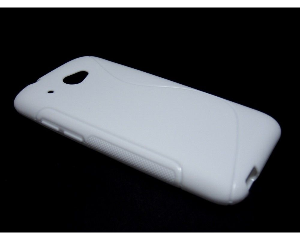 Funda Gel Tpu HTC Desire 601 S Line Color Blanca