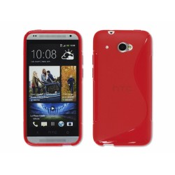 Funda Gel Tpu HTC Desire 601 S Line Color Roja