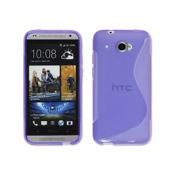 Funda Gel Tpu HTC Desire 601 S Line Color Morada