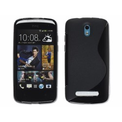 Funda Gel Tpu HTC Desire 500 S Line Color Negra
