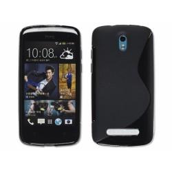 Funda Gel Tpu HTC Desire 500 S Line Color Negra