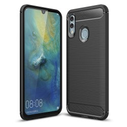 Funda Gel Tpu Tipo Carbon Negra para Huawei P Smart 2019 / Honor 10 Lite