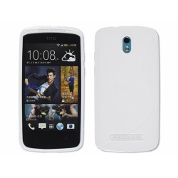 Funda Gel Tpu HTC Desire 500 S Line Color Blanca